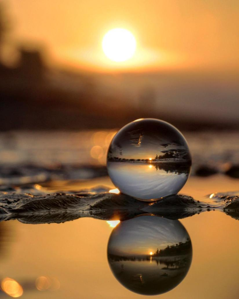 photography-british columbia-surrey-whiterock-lensball-sunrise-orb-wood-panels-sphere-glass-bench-canada-photo-photograph-photographer
